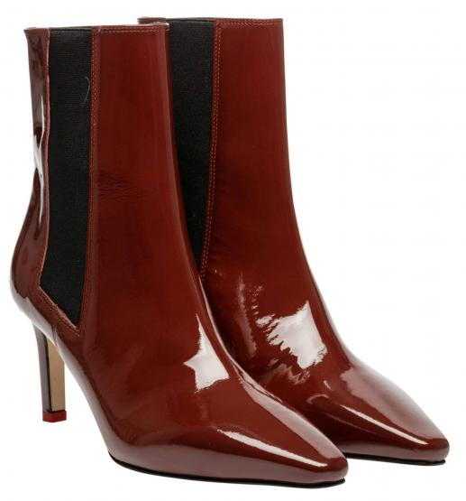 LEILA CHOCOLATE PATENT LEATHER