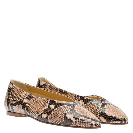 BETTY SNAKE PRINT NATURAL 37½
